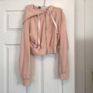 Forever 21 medium pink crop sweatshirt